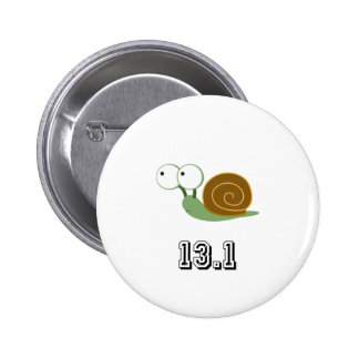 Snail 13.1 (half marathon) pinback button