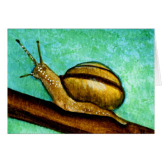 Snail 1 Blank Greeting Card