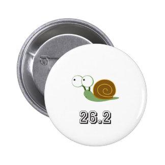 Snail 26.2 (marathon) pinback button