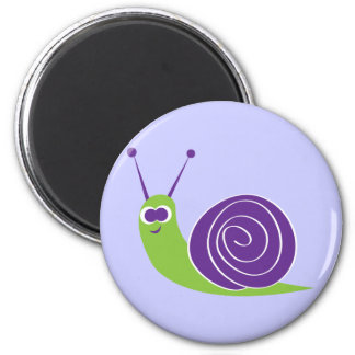 Snail 2 Inch Round Magnet