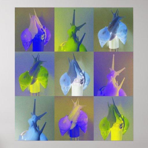 Snail A. fulica jadatzi Pop Art Print