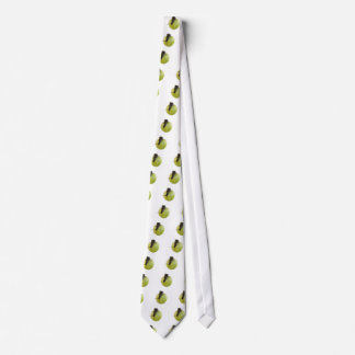 Snail and apple neck tie