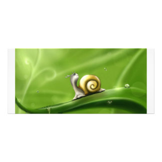 Snail and rain drops custom rack card