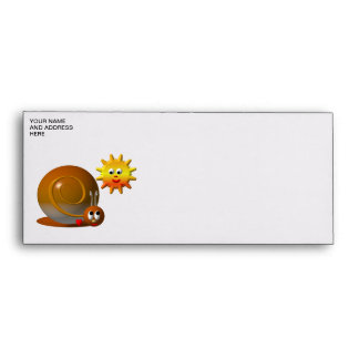 Snail and smiling sun envelope