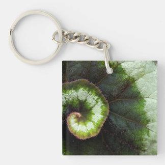 Snail Begonia Leaf Keychain