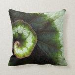 Snail Begonia Leaf Throw Pillow