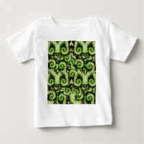Snail Begonia Leaves Pattern by Sharles Baby T-Shirt
