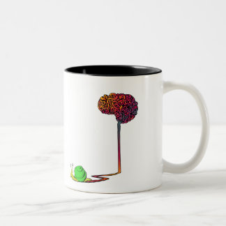 snail brain Two-Tone coffee mug