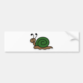 snail bumper sticker