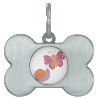 Snail & Butterfly Pet Tag