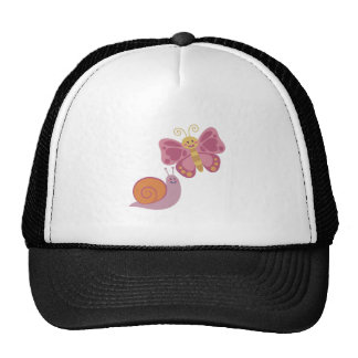 Snail & Butterfly Trucker Hat