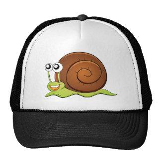 Snail cartoon trucker hat