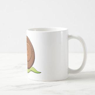 Snail cartoon basic white mug