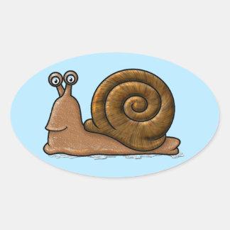 Snail Cartoon Oval Sticker