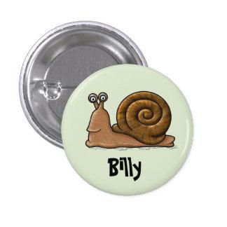 Snail Cartoon Pinback Button