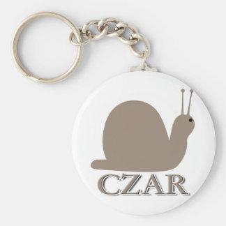 Snail Czar Keychain