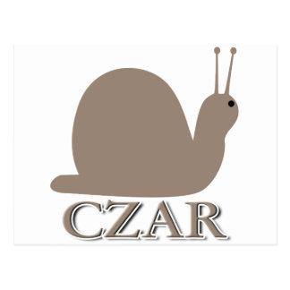 Snail Czar Postcard