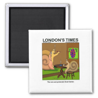 Snail Darter Funny Cartoon Gifts & Tees Fridge Magnet