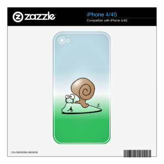 Snail Decal For iPhone 4