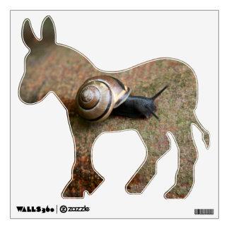 Snail democratic donkey Wall Decal