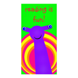 Snail Designed Book Mark Personalized Photo Card