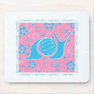 Snail Harbor Volleyball Mouse Pad