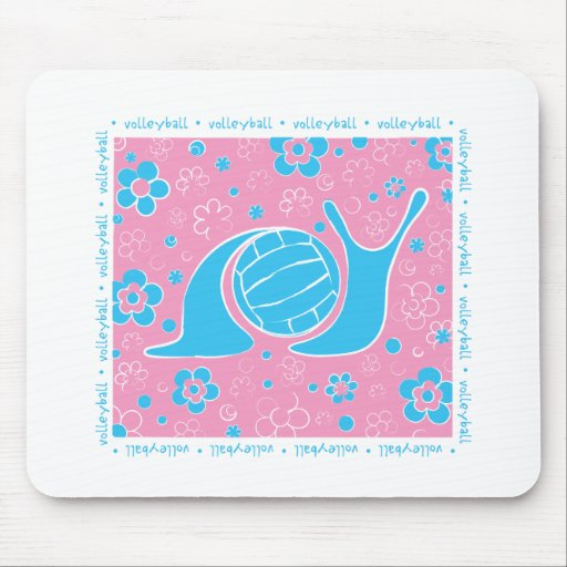 Snail Harbor Volleyball Mouse Pads