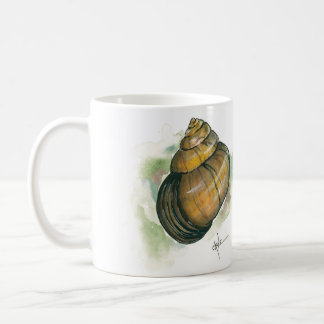 Snail Home Front and Back Watercolor Coffee Mug