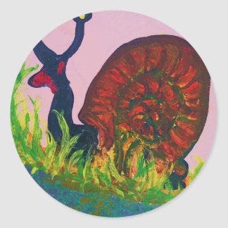 snail imposter classic round sticker