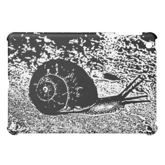Snail in Black and White iPad Mini Cases