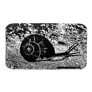 Snail in Black and White iPhone 3 Case-Mate Case