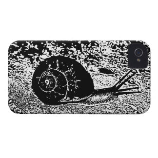 Snail in Black and White iPhone 4 Case