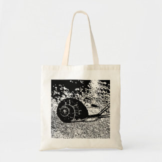 Snail in Black and White Tote Bag