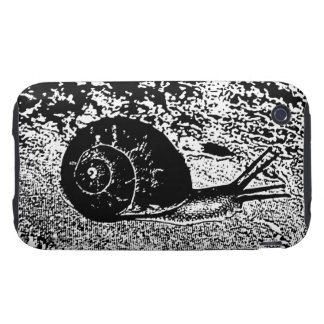 Snail in Black and White Tough iPhone 3 Cover