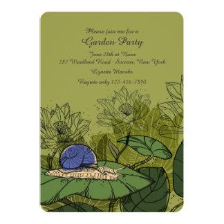 Snail in the Garden Invitation