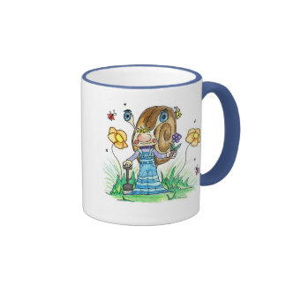 Snail in the Garden Ringer Mug