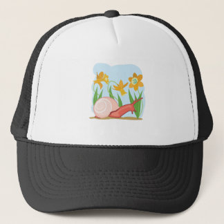 Snail in the Garden Trucker Hat