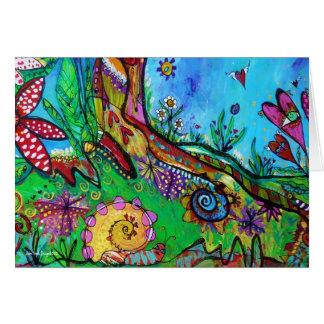 Snail in Wonderland Greeting Card