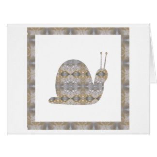 SNAIL insect CRYSTAL Jewel NVN451 KIDS LARGE fun Large Greeting Card