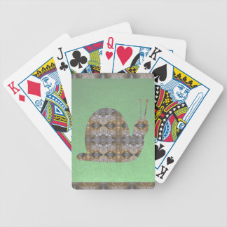 SNAIL insect made of Crystal Stone Bicycle Playing Cards