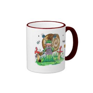 Snail Knitting Ringer Mug