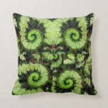 Snail Leaf Begonia Pillow by Sharles