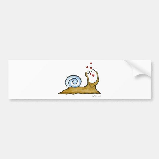 snail love bumper sticker