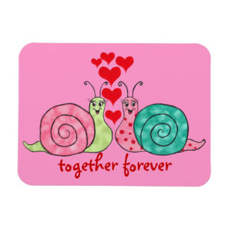 Snail Love & Hearts Magnet