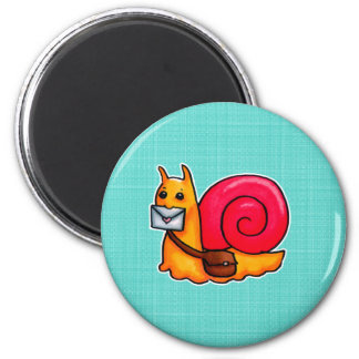 Snail mail 2 inch round magnet