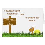 Snail Mail Birthday Card