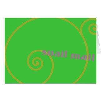 Snail mail de la cal felicitaciones