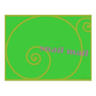 Snail mail de la cal tarjetas postales