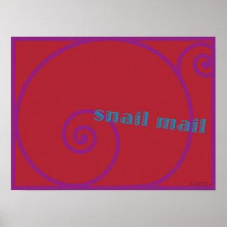 Snail mail de la fresa poster