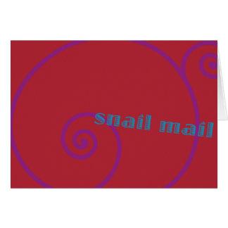 Snail mail de la fresa tarjetón